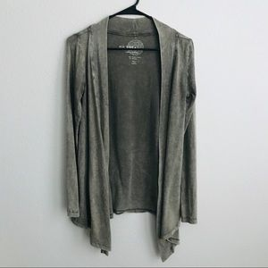 Eco Yoga Distressed Open Front Cardigan